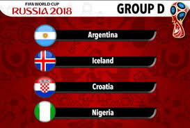 Group D - Russia world Cup 2018