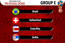 Group E - Russia World Cup 2018