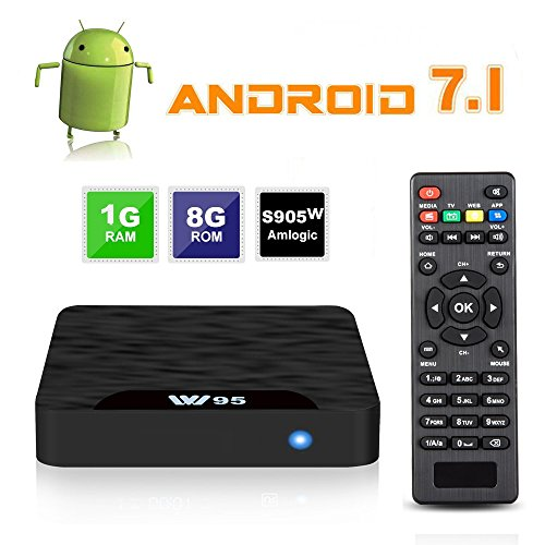 android tv box – 7.1 Android TV Box – J-DEAL W1 Newest Android 7.1 Smart TV Boxsets, Amlogic S905W Quad-Core, 1GB RAM & 8GB ROM, 4K Ultra HD, Support Video Encoder for H.264, 2.4GHz WiFi, Web TV Box + Remote Control – 31.99